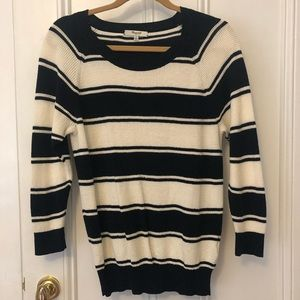 Madewell navy and white striped sweater(M)